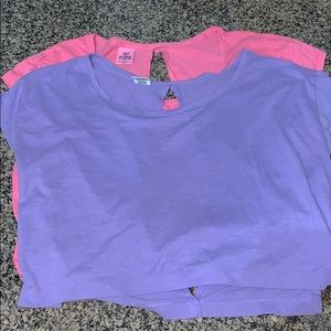 Set of 2 Open Back PINK T-shirts